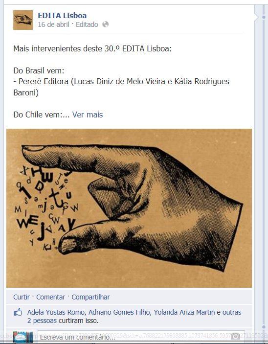 Pererê Editora Edita Lisboa